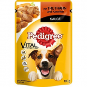 Pedigree Pouches with Turkey and carrot in sauce 100 g