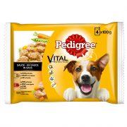 Vital Protection Multipack Chicken, Beef and Vegetables in Sauce 4x100 g van Pedigree