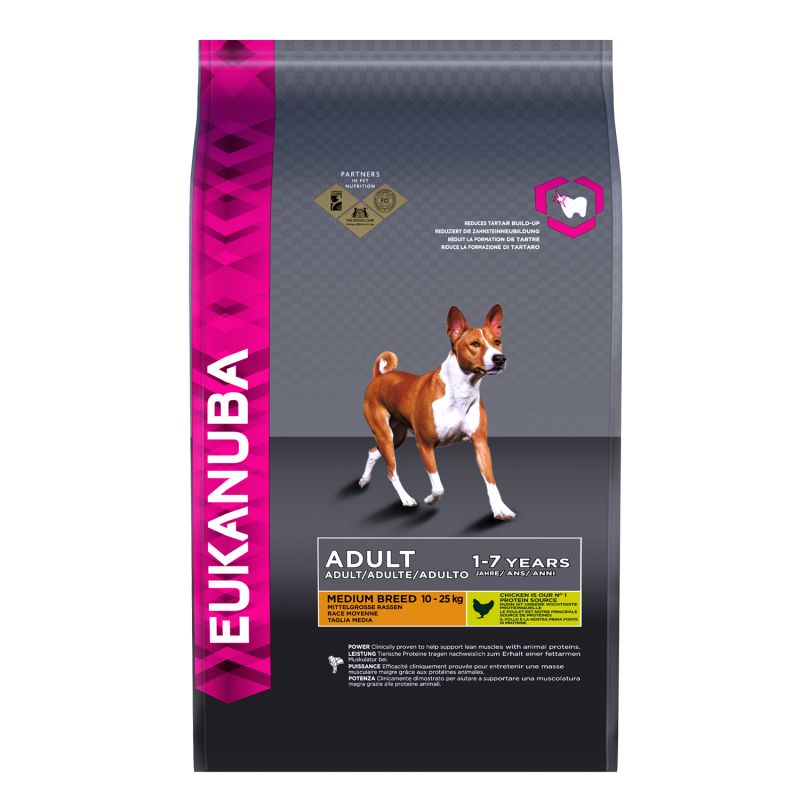 Eukanuba Adult Medium Breed, Kip 3 kg, 15 kg