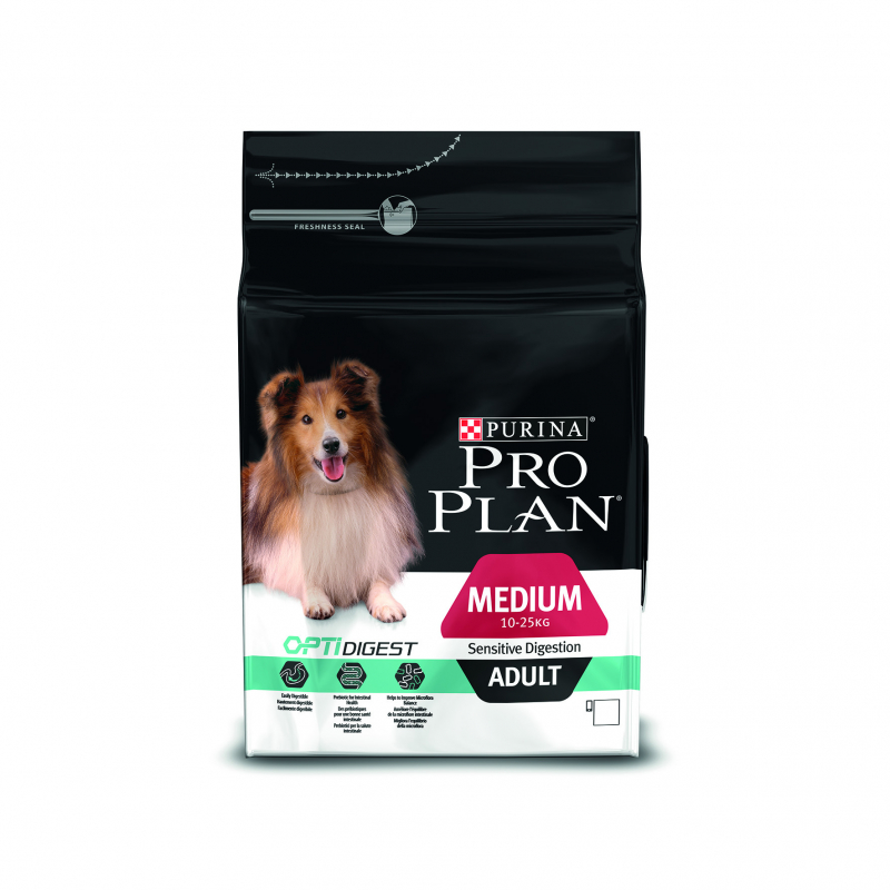 Purina Pro Plan Medium Adult Sensitive OPTIDIGEST rijk aan kip 14 kg, 3 kg