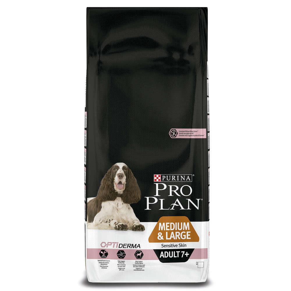 Purina Pro Plan Medium & Large Adult 7+ - Optiderma Lohi 14 kg osta edullisesti