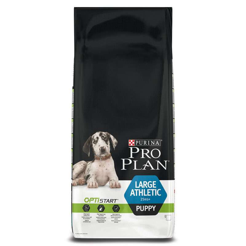Purina Pro Plan Large Puppy Athletic - Optistart Rik på Kyckling 12 kg, 3 kg