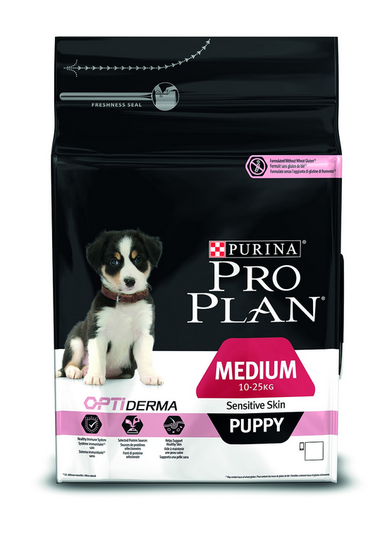 Purina Pro Plan Puppy Medium - Optiderma Zalm 3 kg, 12 kg test