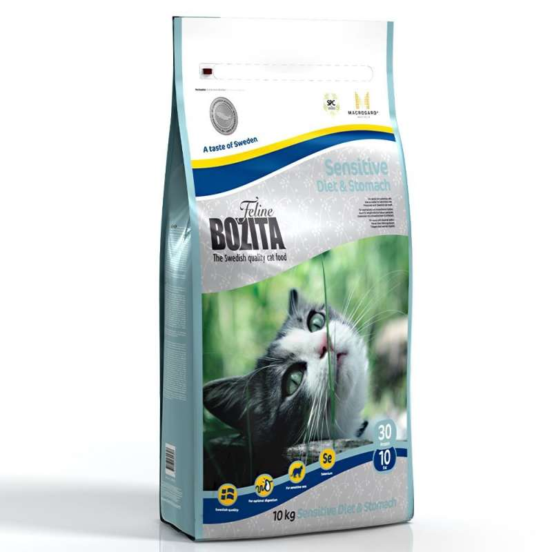 Bozita Feline Sensitive Diet & Stomach 400 g, 2 kg, 10 kg kjøp billig med rabatt