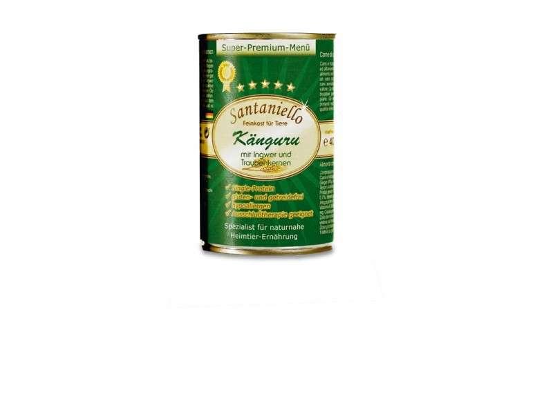 Santaniello Premium Menu Canguro con jengibre y semillas de uva 400 g, 200 g