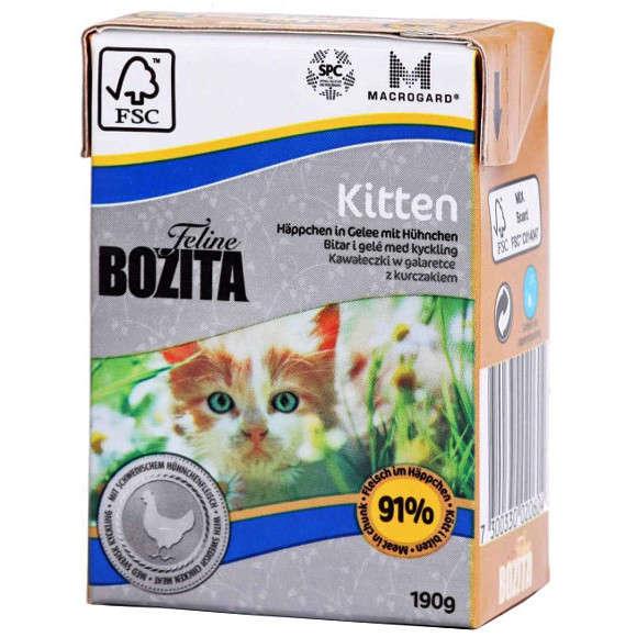 Bozita Feline Kitten Chunks in Jelly with Swedish Chicken 190 g