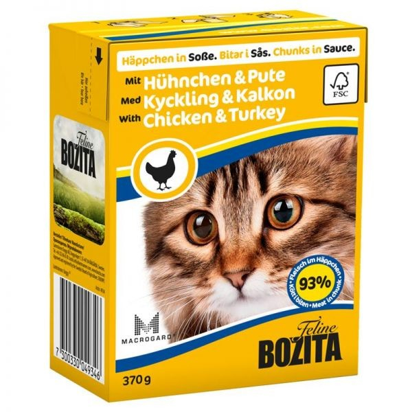 Bozita Chunks in Sauce with Chicken and Turkey 370 g
