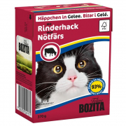 Bozita Chunks in Jelly with Minced Beef 370 g kjøp billig på nett til hunden din