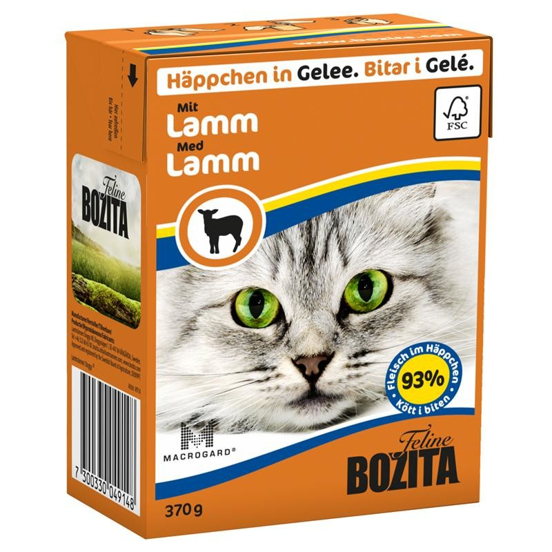 Bozita Chunks in Jelly with Lamb 370 g osta edullisesti