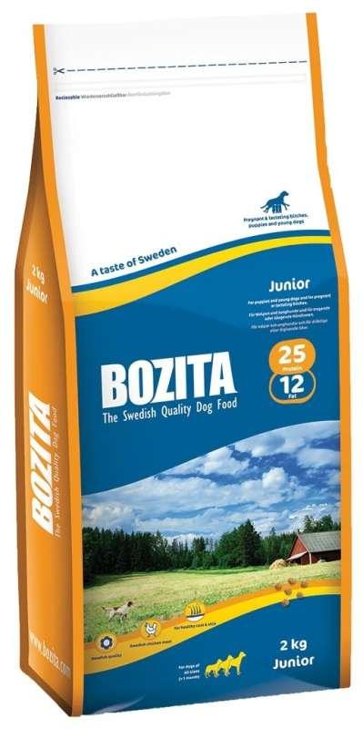 Bozita Junior 12.5 kg, 2 kg, 5 kg test