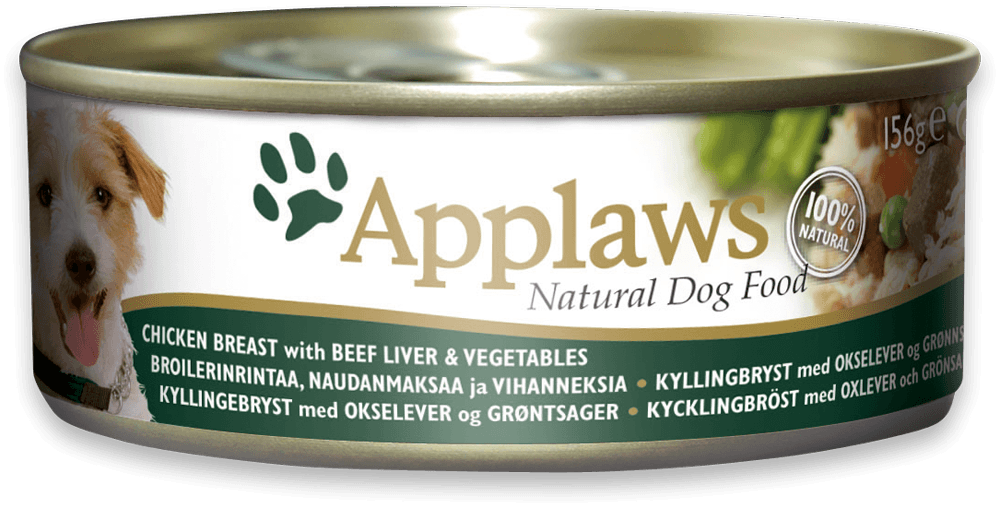 Applaws Dog Latas Pollo, Hígado de ternera y Verduras 156 g