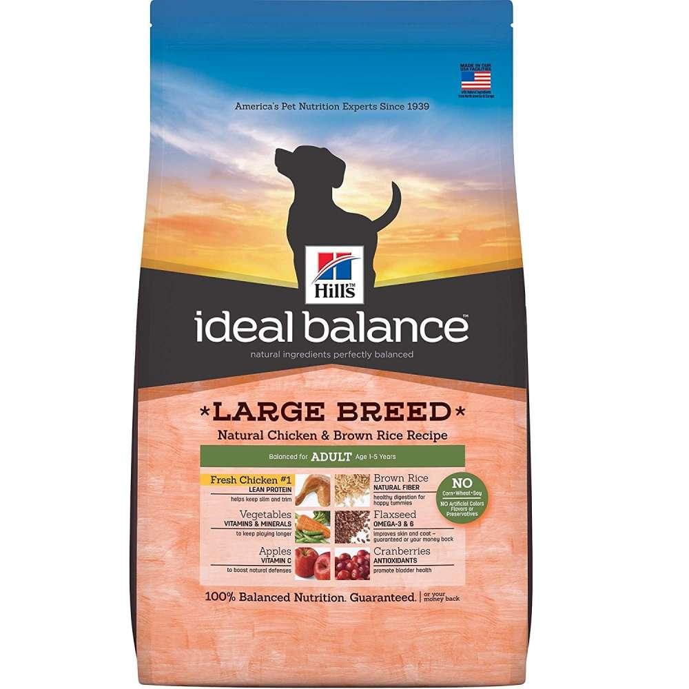 Hill's Ideal Balance Canine - Adult Large Breed Kana & Ruskea Riisi 2 kg, 12 kg osta edullisesti