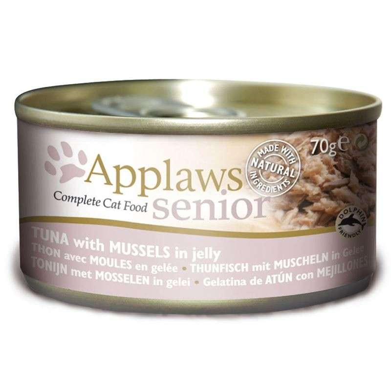 Applaws Senior Cat Food Tonnikala & Simpukka hyytelössä 24x70 g