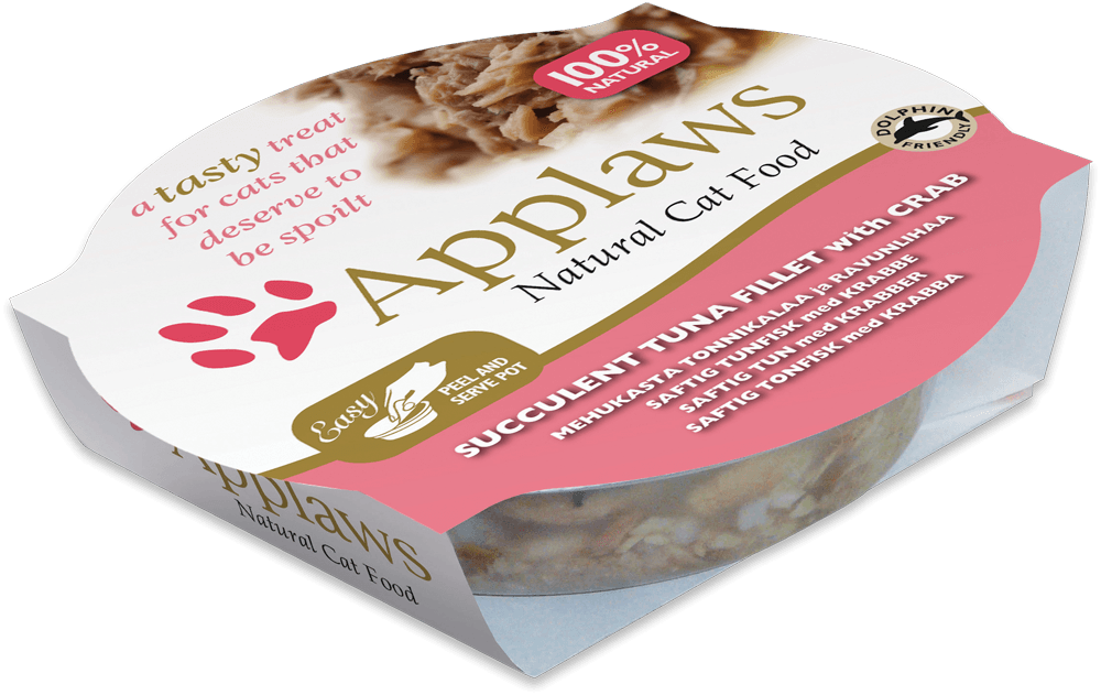 Applaws Cat Pots Filet de Thon et Crabes 60 g