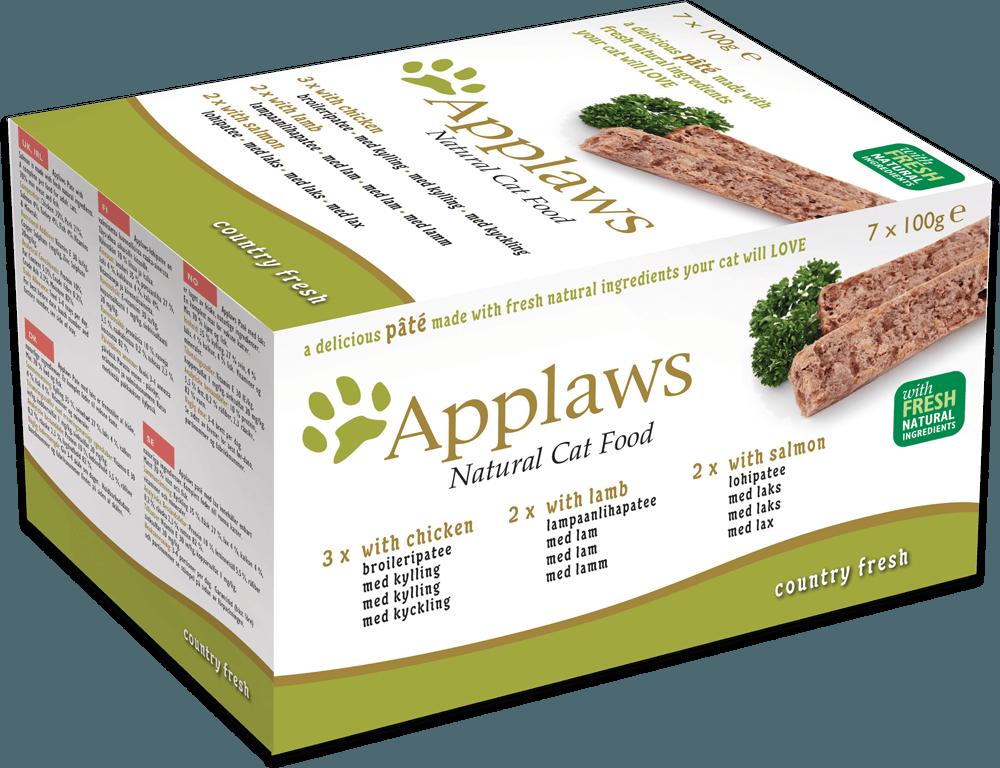 Applaws Paté met Kip, Lam, Zalm - Multipack 7x100 g