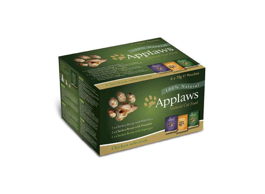 Applaws Chicken Selection in Caldo - Multipack 6x70 g 5060122491976 opiniones