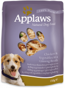Applaws Pouch - Chicken with Vegetables in Ginseng Broth 12x150 g