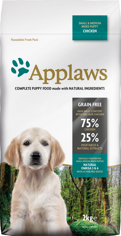 Applaws Puppy Small & Medium Breed Kip 15 kg, 2 kg, 7.5 kg