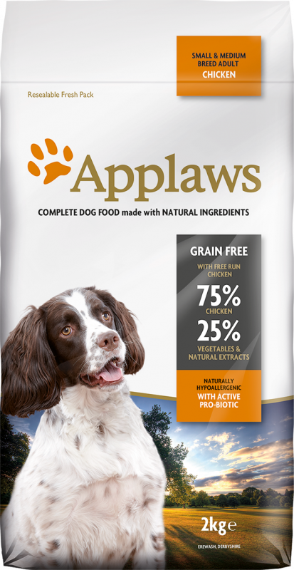 Applaws Adult Small & Medium Breed Kip 2 kg, 15 kg, 7.5 kg
