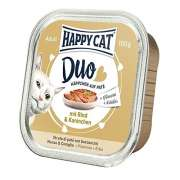 Happy Cat Duo Pâté on Nibbles with Beef & Rabbit Tray 100 g