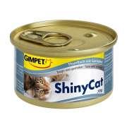 GimCat ShinyCat Thon & crevettes 24x70g