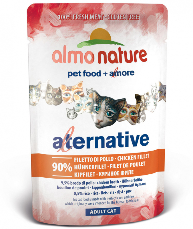 Almo Nature Alternative Kanafileetä laukussa 55 g