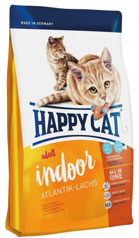 Happy Cat Supreme Indoor Atlantik-Lachs 10 kg, 4 kg, 1.4 kg, 300 g günstig kaufen