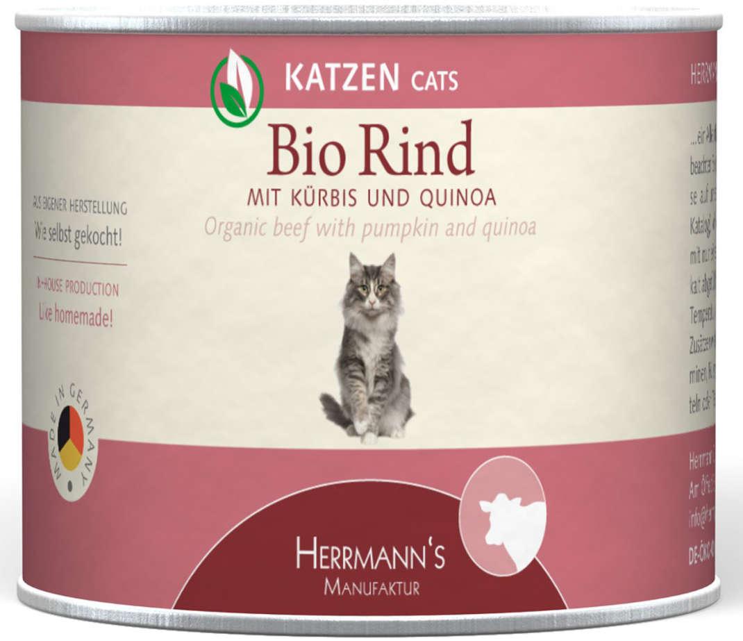 Herrmann's  Bio-Rund met Pompoen en Quinoa, Blikje 200 g