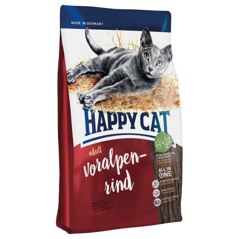 Happy Cat Supreme Voralpen Rind 12 kg, 1.8 kg, 10 kg, 4 kg, 1.4 kg, 300 g