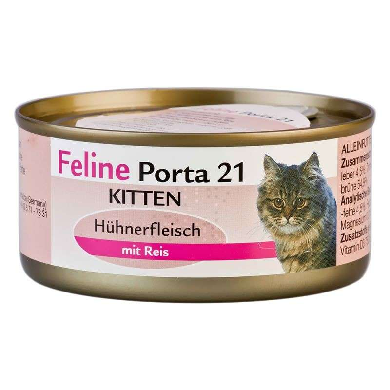 Feline Porta 21 Kitten Chicken with Rice 90 g
