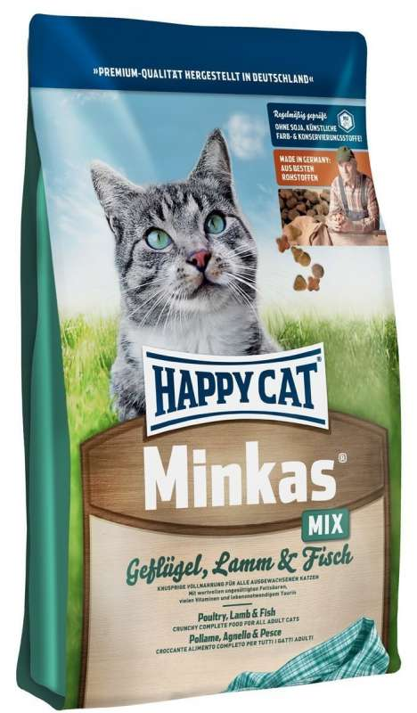 Happy Cat Minkas Mix with Poultry, Lamb & Fish 10 kg