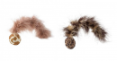 Cat toy - Ball with feather tail and catnip 4 cm
