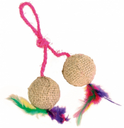 Trixie 2 Balls on a Rope, Jute 4.5 cm