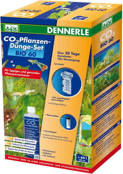 Dennerle CO2 - Plantenbemestingsset BIO 60   met korting aantrekkelijk en goedkoop kopen