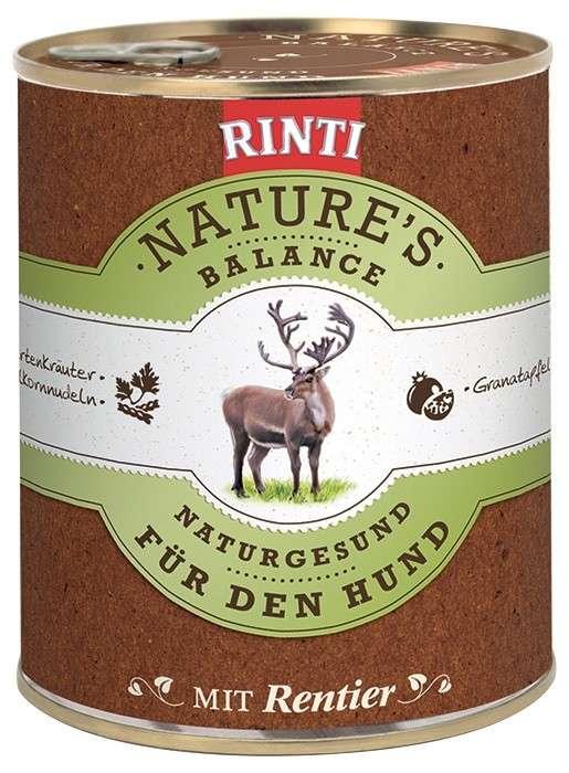 Rinti Natures Balance Rendier & Noedels 800 g, 400 g, 185 g
