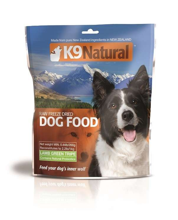 K9 Natural Freeze Dried Lamb Green Tripe EAN: 9421900779055 reviews