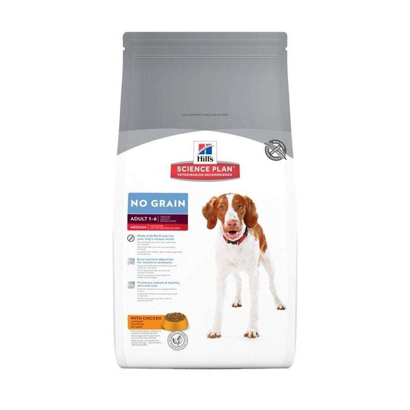 Hill's Science Plan Canine - Adult No Grain Medium Poulet 12 kg, 2 kg, 800 g