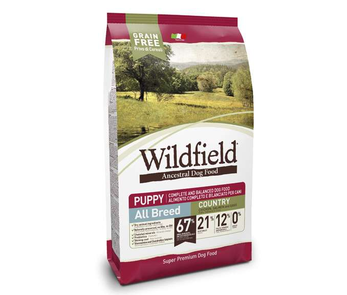 Wildfield Puppy Country All Breed - Frango, Salmão e Ovo 7 kg, 400 g, 2 kg