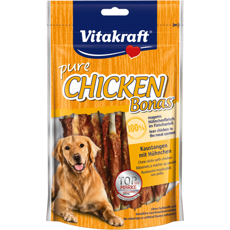 Vitakraft Chicken Bonas - Palos Masticables con Pollo 80 g