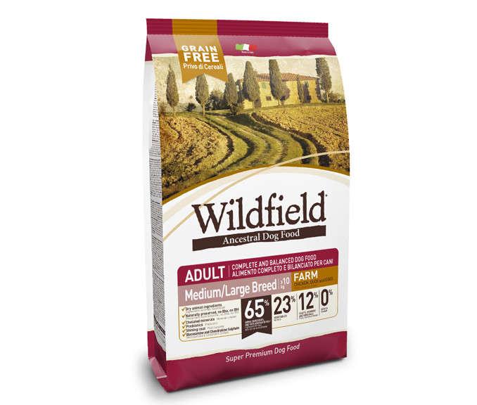 Wildfield Adult Farm Medium/Large com Frango, Pato e Ovos 2 kg, 12 kg