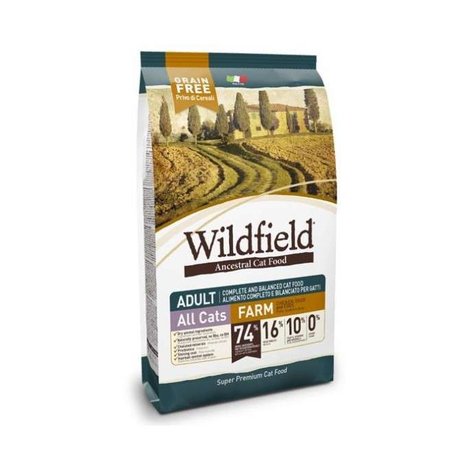 Wildfield Cat Adult Farm Chicken, Duck and Eggs 400 g, 2 kg