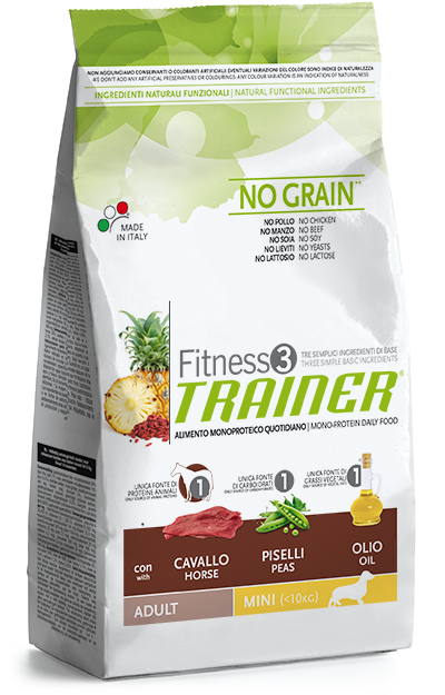 Nova Foods Fitness3 Trainer - Adult Mini con Caballos, Guisantes & Aceite 2 kg 8059149006338 opiniones