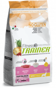 Fitness3 Trainer - Puppy&Junior Medium/Maxi with Duck, Rice & Oil 12.5 kg