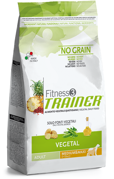 Nova Foods Fitness3 Trainer - Adult Medium - Maxi Vegetal 12.5 kg