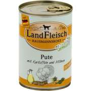 Landfleisch Hausmannskost Junior Turkey with Potato and Carrot Can great prices online - Puppy products