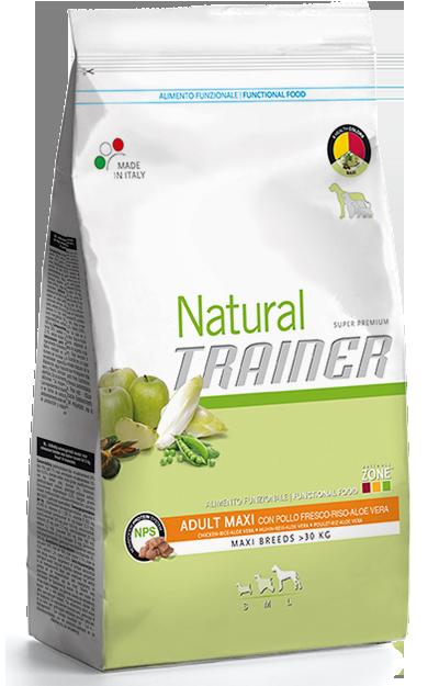 Nova Foods Natural Trainer - Adult Maxi con Pollo Fresco, Arroz y Aloe Vera 12.5 kg