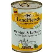 Hausmannskost Volaille, filet de Saumon avec Pommes de terre, Épinard et Baies Boîte 400 g