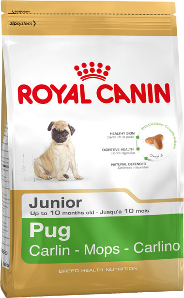 Royal Canin Breed Health Nutrition Pug Junior 1.5 kg 3182550813082 anmeldelser