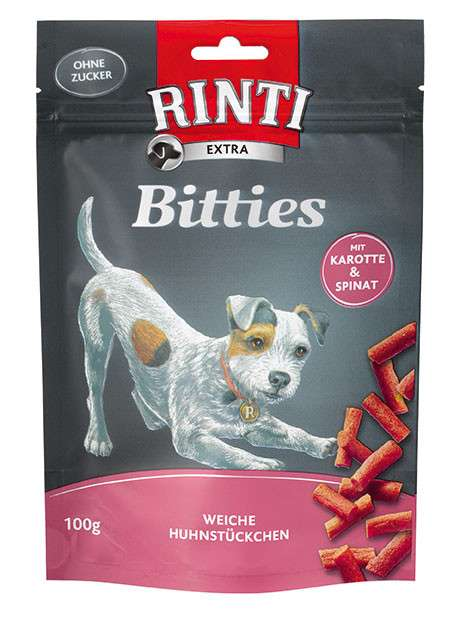 Rinti Extra Mini Bitties Chicken with Carrots and Spinach 100 g