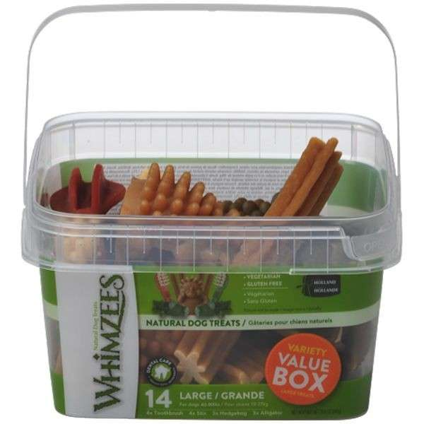 Whimzees Variety Value Box Large Treats 14 pcs.  8718627752807 opiniones